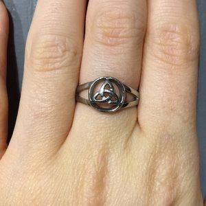 Stainless Steel Trinity Know Ring